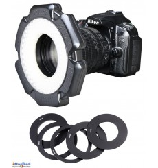 LEDR-10W - LED Ring licht 10W voor Foto & Video Camera - 5500 ° K - 1200 lm - Voor 6 AA-batterijen