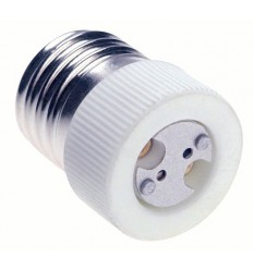 ADE27GX635 - Adaptor for lamp holder E27 socket to GX-6.35 socket - illuStar