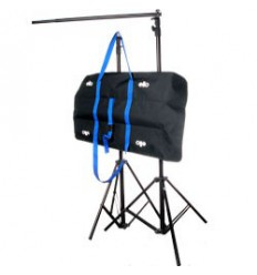 C050 - Background support Kit - wide 301 cm (telescopic) - height 252~100 cm (2x stands FP2600, crossbar P123, carry bag)
