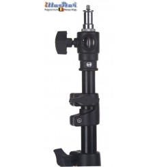LS-360A - Light stand - air cushioned - 360~107cm - folded 110cm - base ø120cm, tube ø22cm - 4 sections ø40/32/28/24mm