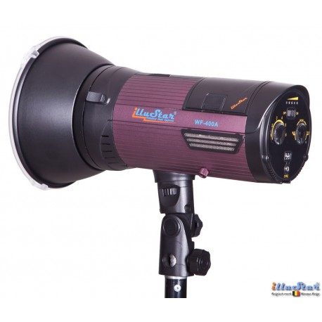 WF-400A - Studio Flash on Li-ion battery 6 Ah, stepless variable 400~12 Ws (Joule), LED 5W modelling lamp, Bowens-S adaptor