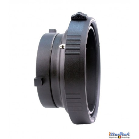 ICM-BS-EL - Inter-changeable mount - Adapter for use of Elinchrom accessories onto illuStar / Bowens Studio Flash