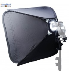 SBQS4040SL - Softbox (Quick Setup) - 40x40cm - met Cameraflitser houder type L met Flitsschoen (Canon/Nikon) - illuStar