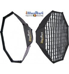 SBUF95HCA135 - Softbox - (Fast foldable like umbrella) - ø95cm Octagonal with Diffuser & Honeycomb Grid - illuStar