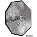SBUF-120HC-A135 - Softbox - (Fast foldable like umbrella) - ø120cm Octagonal with Diffuser & Honeycomb Grid