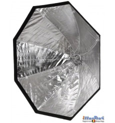 SBUF120HCA135 - Softbox - (Fast foldable like umbrella) - ø120cm Octagonal with Diffuser & Honeycomb Grid - illuStar