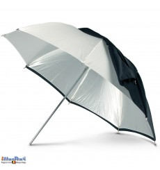 URDP140TS - Umbrella ø140cm - Nylon (POM) frame - Transparent (diffuse) and removable cover Silver/Black - illuStar