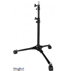 LS70 - Light stand with casters - 70~50cm - folded 48cm - base ø50cm - 2 sections, tube ø25/19mm - 5/8' spigot - illuStar
