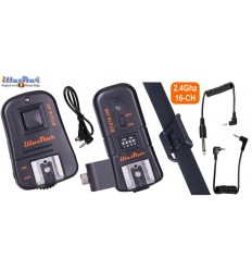 RTU16HK - 3in1 Trigger set - 2.4 Ghz - RTU16-HT transmitter & RTU16-HR receiver with hot-shoe - illuStar