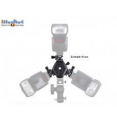 FLH-11 - Triple Hot-shoe holder for mounting 3 speedlites on stand, umbrella holder