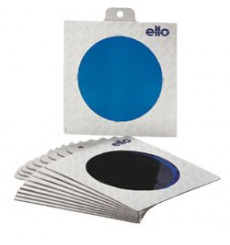 E003 - Colour filter SET : 10 different coloured folic filters in frames ø220mm