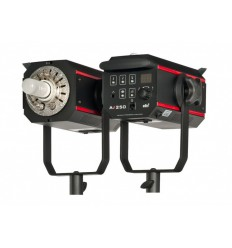 AX250 - Studio Flash - Digital and stepless 8Ws~250Ws - Cooling fan - E27 150W halogen - elfo adaptor