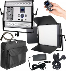 LEDP-100PRO-DMX - LED Video & Photo Studio Lighting 100W + 100W Bi-Color, DMX-512, V-Mount Battery slot, DC 13V-19V