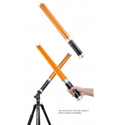 LEDTL-20 Portable daylight LED tube light for photo and video, barndoor, built-in Li-ion battery and 2.4GHz receiver