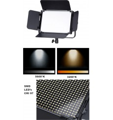 LEDP150PRODMX - LED Video & Foto Studioverlichting 150W + 150W Bi-Color, DMX-512, 2x V-Mount batterijslot, DC 36V - illuStar