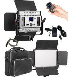 LEDP60PRODMX - LED Video & Foto Studioverlichting 60W + 60W Bi-Color, DMX-512, 2x NP-F750/960 batterijslot, DC 13V-19V