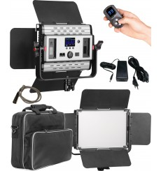 LEDP60PRODMX - LED Video & Foto Studioverlichting 60W + 60W Bi-Color, DMX-512, 2x NP-F750/960 batterijslot, DC 13V-19V - illuSta