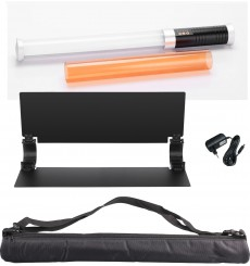 LEDTL20 Portable daylight LED tube light for photo and video, barndoor, built-in Li-ion battery and 2.4GHz receiver - illuStar