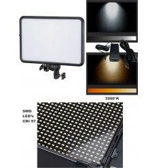 LEDP60 - LED Video & Foto Studioverlichting 60W + 60W Bi-Color, 2x NP-F750/960 batterijslot, DC 13V-17V - illuStar