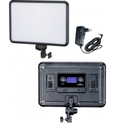 LEDP30 - LED Video & Photo Studio Lighting 30W + 30W Bi-Colour, 2x NP-F750/960 battery slot, DC 13V-17V - illuStar
