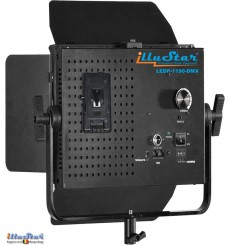 LEDP-1190-DMX - 75W LED Video & Photo Studio Lighting, 5400°K, 9000 lm, DMX-512, V-Mount battery slot, DC 12V~24V