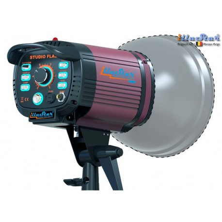 FI-500A - Studio Flash - Stepless variable 500~15 Ws (Joule), E27 250W halogen - Cooling fan, Bowens-S adaptor