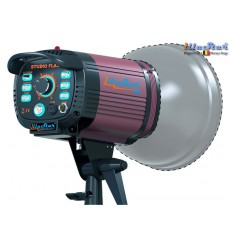 FI-800A - Studio Flash - Stepless variable 800~25 Ws (Joule), E27 250W halogen - Cooling fan, Bowens-S adaptor - illuStar