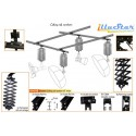 CR-KIT4 - Ceiling rail system KIT 4m*3m (2x rail 4m, 2x rail 3m, 4x pantograph with rail carriage)