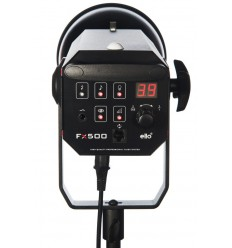 FX500 - Studio Flash - Digital and stepless 500~15 Ws (Joule) - Cooling fan - E27 250W halogen - Bowens-S adaptor