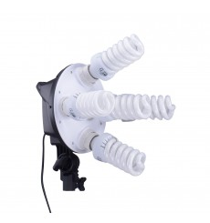 CL5FLSB - Studio Lamp (950W) with 5x 38W fluorecent E27 lamps - Softbox 50x70 cm - 4 step power control