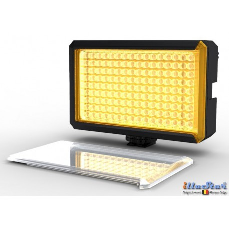 LEDC-8W - 8W LED Video & Photo on-Camera Light - 5500°K - 850 lx - For 6 AA batteries - Standard Hot-Shoe