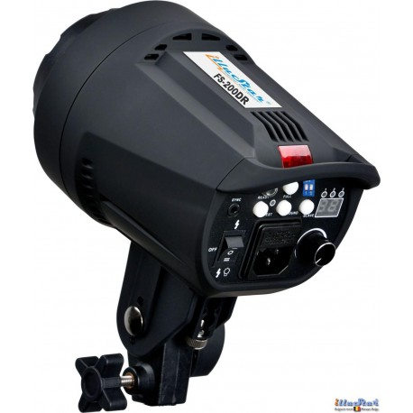FS-200DR - Studio Flash, Digital and Stepless 200~6 Ws, GX6.35 100W halogen, Bowens-S adaptor