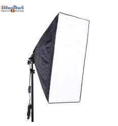 Lamphouder LHSB50 voor E27 lamp met Easy opvouwbare Softbox 50x50cm - illuStar