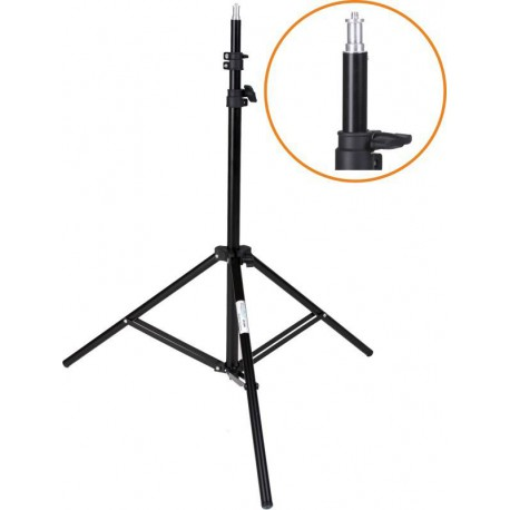 LS-180 - Light stand - 180~65cm, folded 70cm, base ø88cm, 3 sections - tube ø25,3/22/19mm