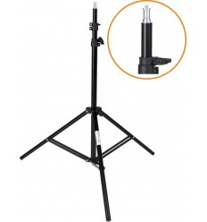 LS-180 - Light stand - 180~65cm, folded 68cm, base ø80cm, 3 sections - tube ø22/19/16mm