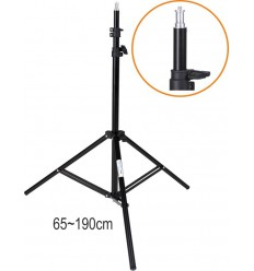 LS202 - Lampstatief 195~65cm, opgevouwd 70cm, voet ø88cm, 3-delig ø25,3/22/19mm - illuStar
