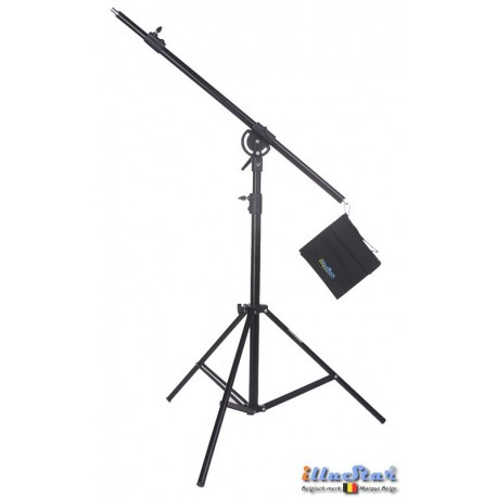 LSB-180TH - Light boom set - Heavy duty - Stand high 180~105cm - Pivot clamp - Boom arm 180~100cm with Sand bag