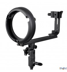 SLBTCNBS - Speedlite Bracket type T with Canon/Nikon Hot-shoe for Bowens-S mount - illuStar