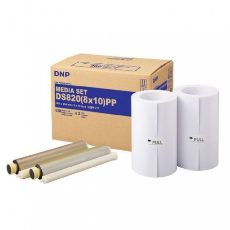 DNP Paper DM810820 Premium 2 Rolls with 130 prints 20x25 for DS820