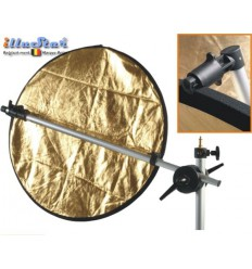 RH168C - Reflector holder for 5-1 reflector, arm length 168~63cm, with eccentric cam for assembly on light stand - illuStar