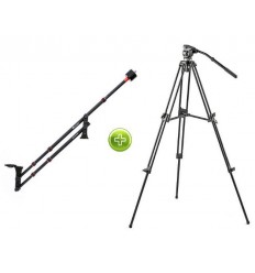 Video Stand with Video Travel Jib - Falcon Eyes