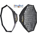 SB-170HC-A144 - Softbox 2in1 - ø170cm Octagonal with Diffuser & Honeycomb Grid - 360° rotating - foldable - carry bag