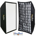 SB-4060HC-A144 - Softbox 2in1 - 40x60cm with Diffuser & Honeycomb Grid - 360° rotating - foldable - carry bag
