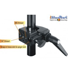 SCLAMP - Super clamp - Multi purpose clamp - slot for spigot & hexa spigot - illuStar
