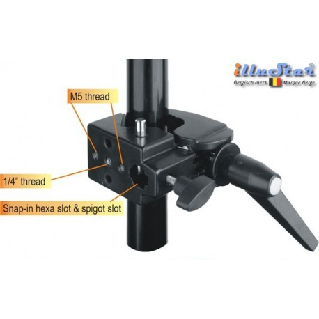 SCLAMP - Super clamp - Multi purpose clamp - slot for spigot & hexa spigot