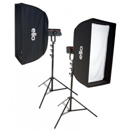 SET-Q-PRO600 - 2x QUANT-600-PRO Digital and stepless variable 600~18 Ws (Joule), 2x 2m50 stands, softbox 50x90cm & 60x130cm