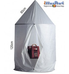 SLT100180 - Shadow less tent - Cylindrical, conical top 100cm*180cm high - illuStar