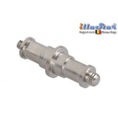 "SPD4M8M - 5/8"" Spigot dubbel - 68mm (male 1/4"" - male 3/8"") - illuStar"