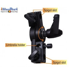 TBU - Tilting bracket and umbrella holder, for mounting flash on stand - illuStar