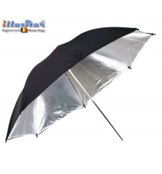 UR100S - Umbrella ø101cm - Silver & Black - illuStar